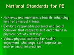 national standards for pe15
