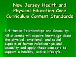 new jersey health and physical education core curriculum content standards6
