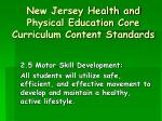 new jersey health and physical education core curriculum content standards7