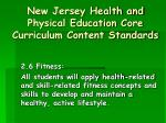 new jersey health and physical education core curriculum content standards8