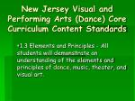 new jersey visual and performing arts dance core curriculum content standards11