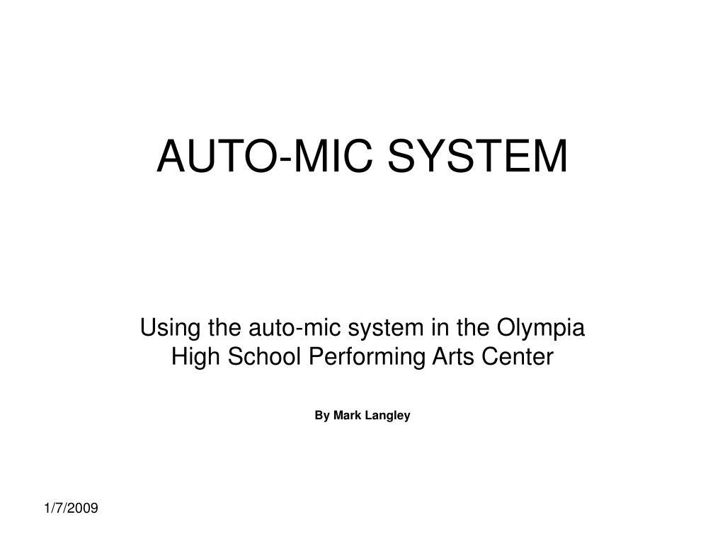auto mic system l.