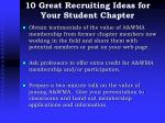10 great recruiting ideas for your student chapter1