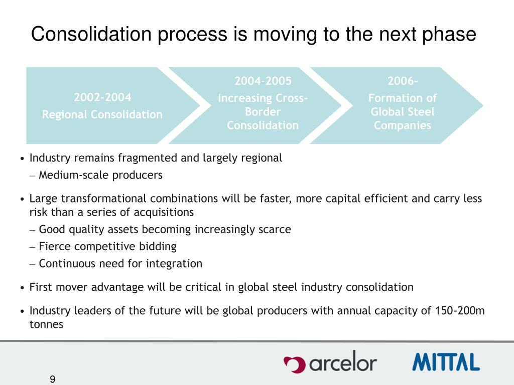 Consolidation process is moving to the next phase