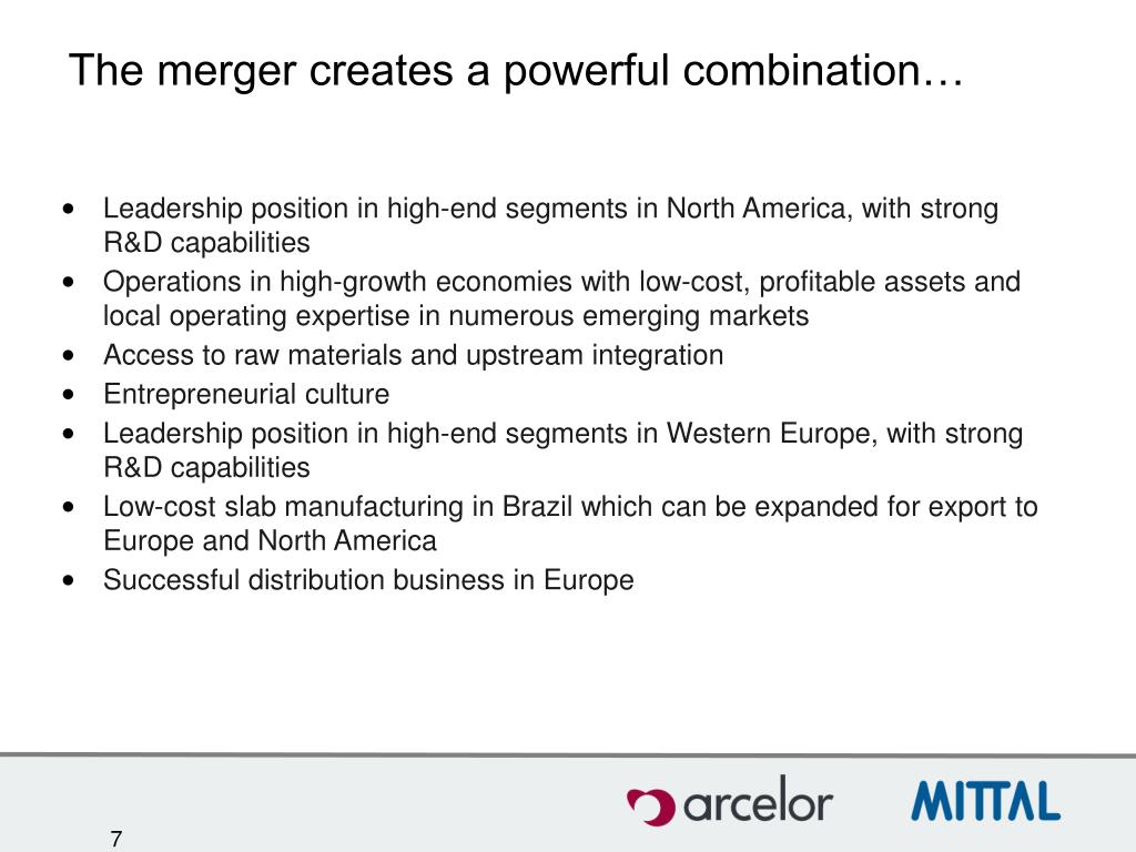 The merger creates a powerful combination…