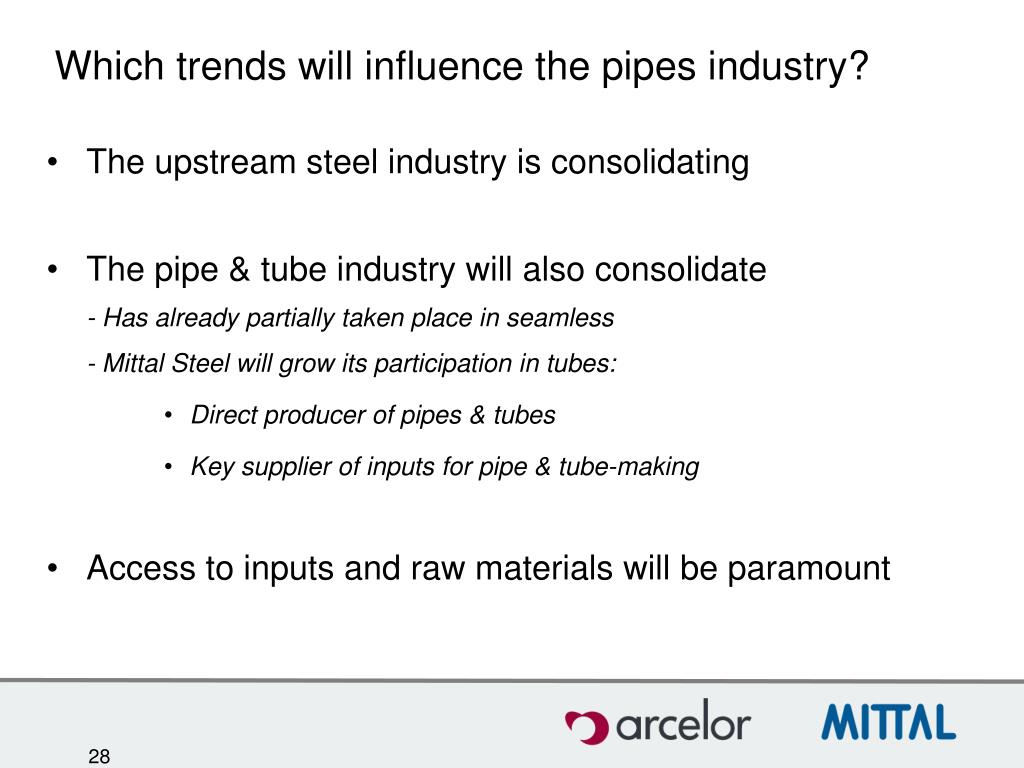 Which trends will influence the pipes industry?