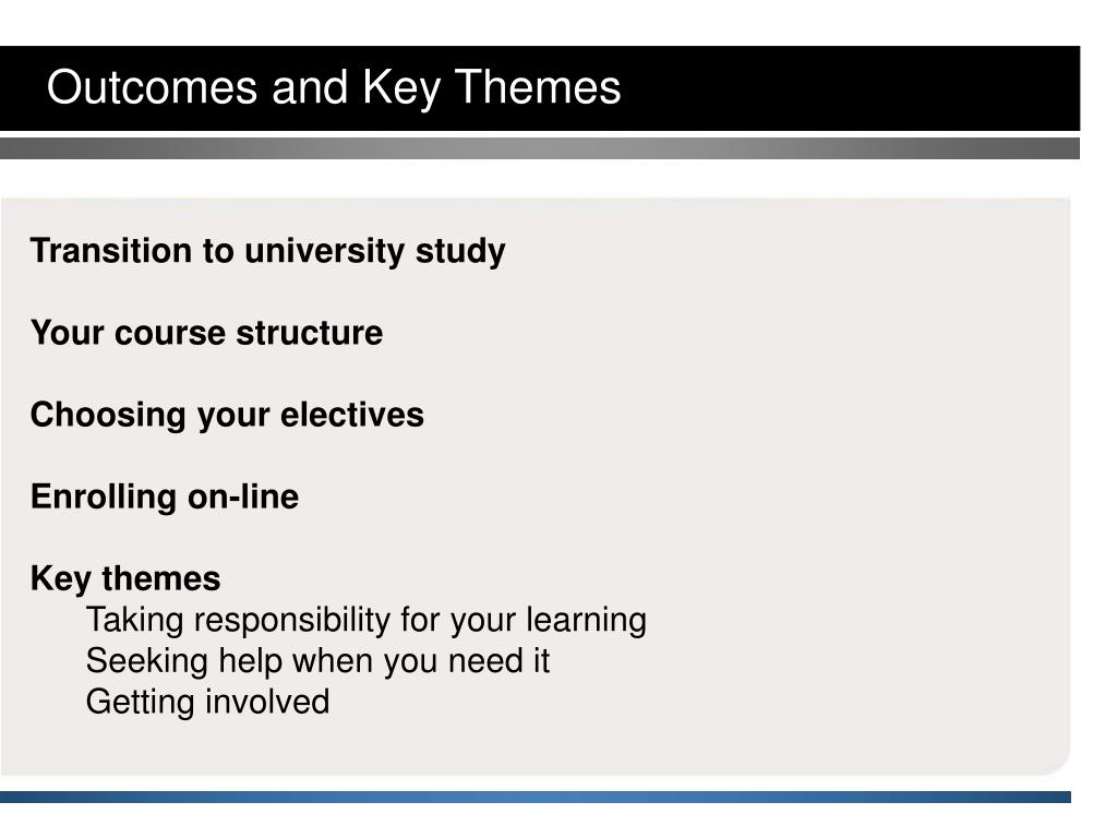 Outcomes and Key Themes