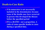 death to case ratio