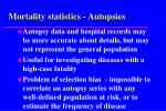 mortality statistics autopsies