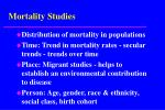 mortality studies