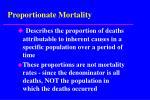 proportionate mortality