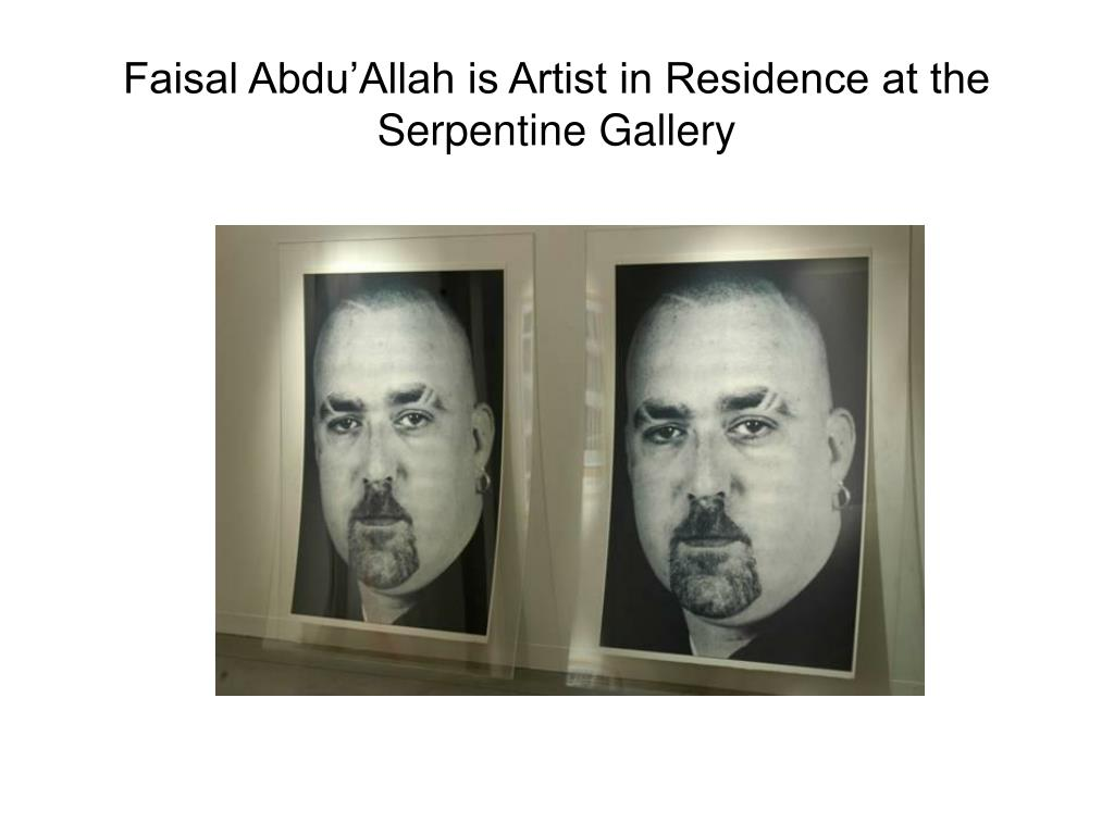 Faisal Abdu'Allah is Artist in Residence at the Serpentine Gallery