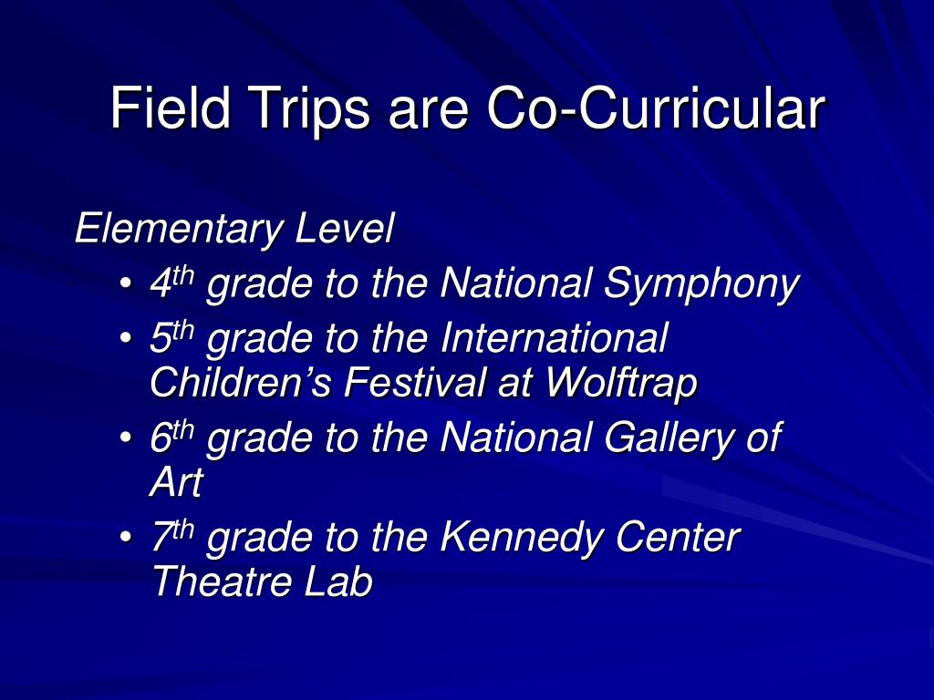 Field Trips are Co-Curricular