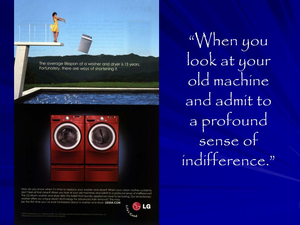 """""""When you look at your old machine and admit to a profound sense of indifference."""""""