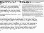 discrimination challenges