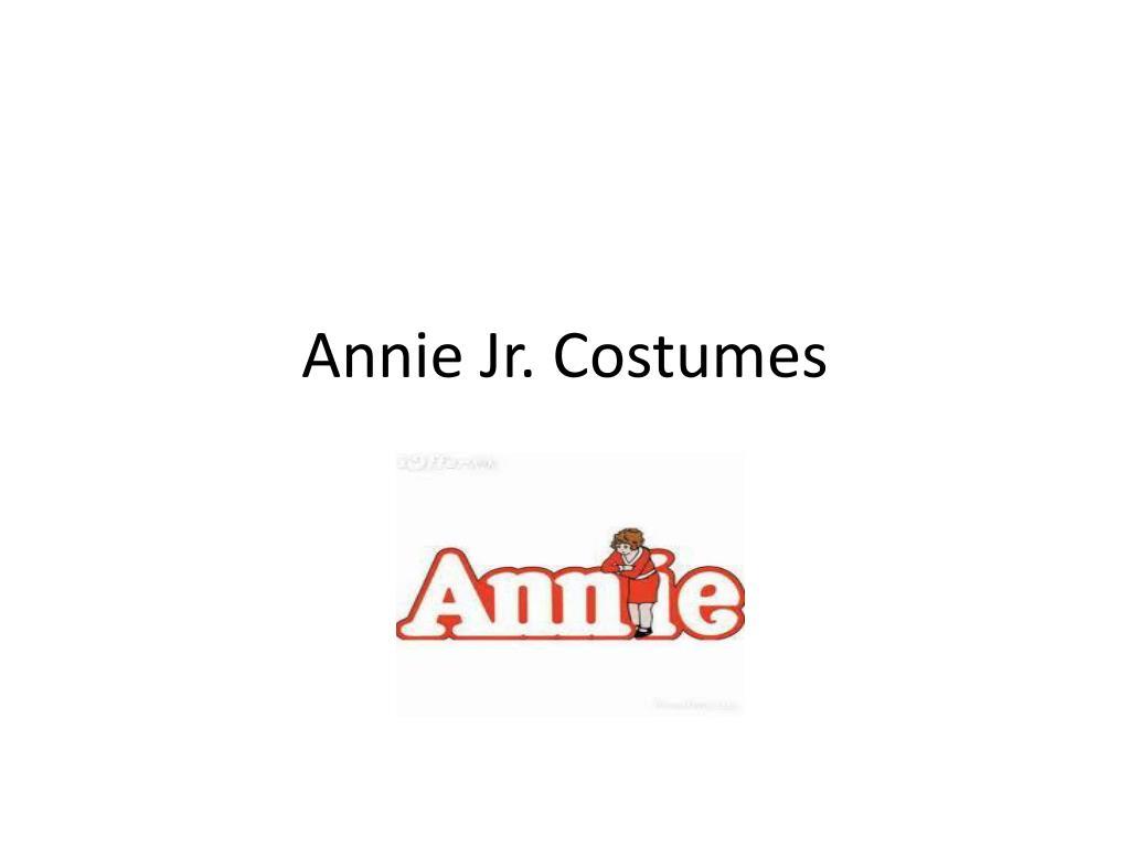 annie jr costumes l.