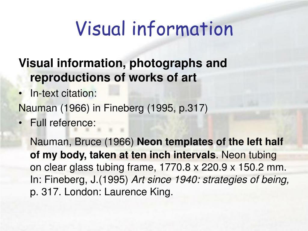 Visual information