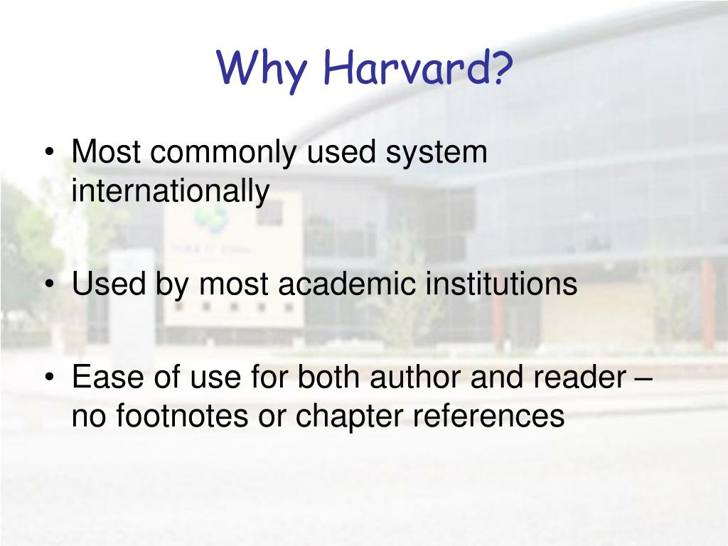 Why Harvard?