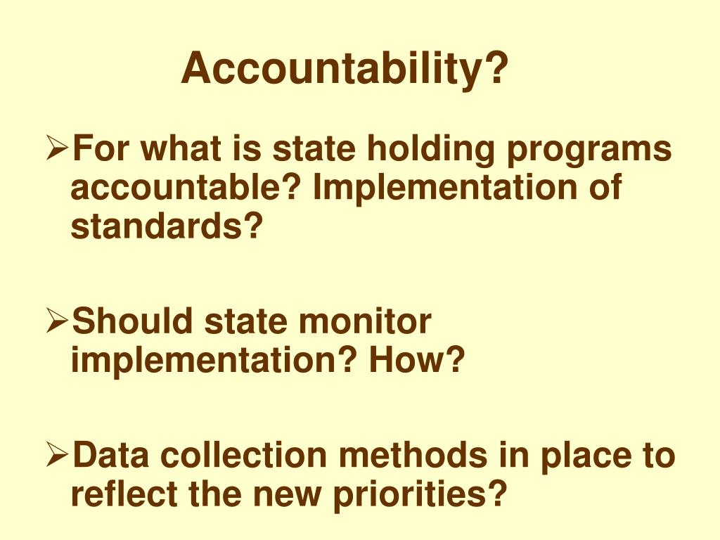 Accountability?