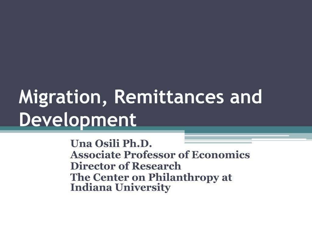 migration remittances and development l.