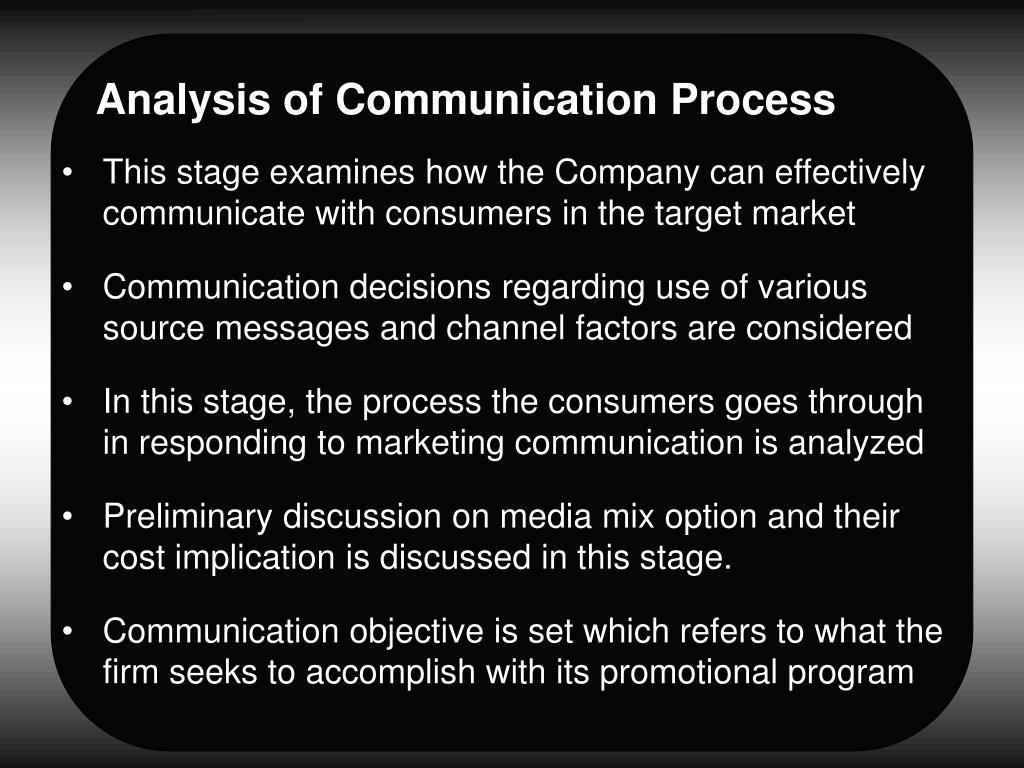Analysis of Communication Process