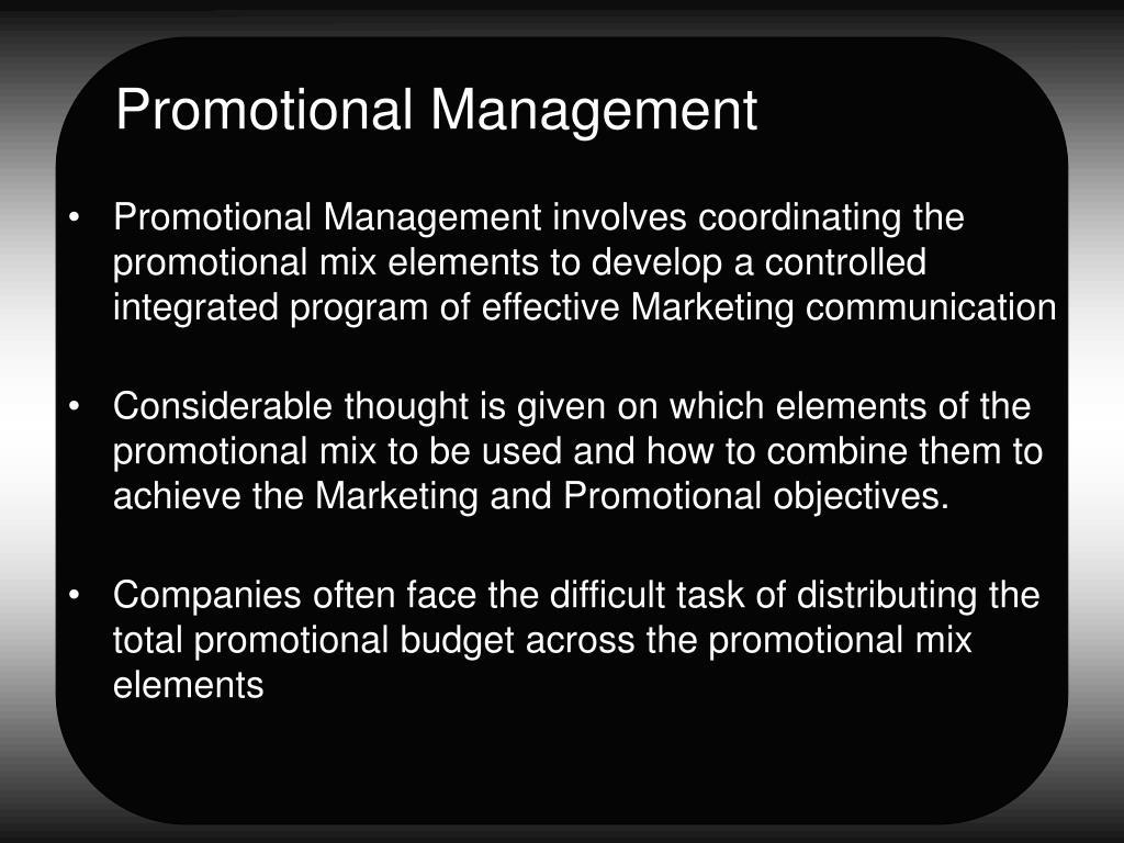 Promotional Management