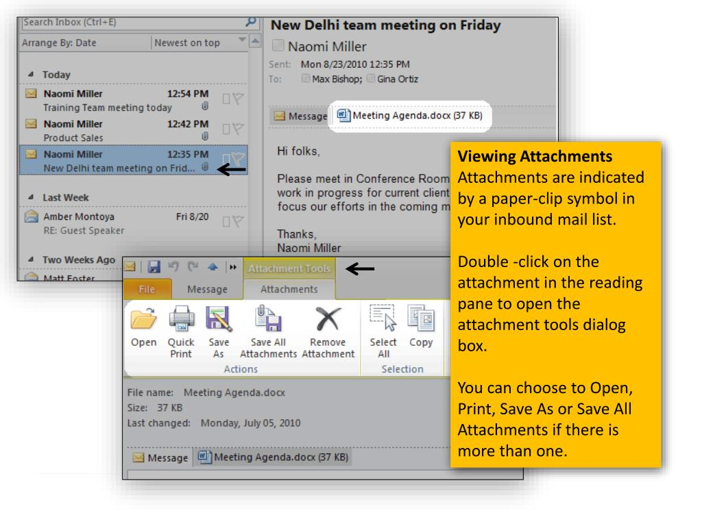 PPT - An Introduction to Outlook 2010 PowerPoint