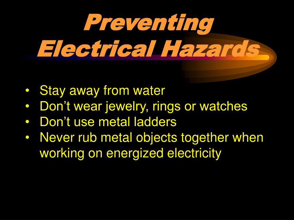 preventing electrical hazards l.