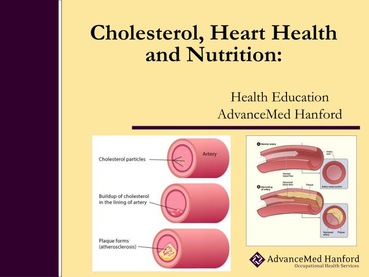 Cholesterol heart health and nutrition