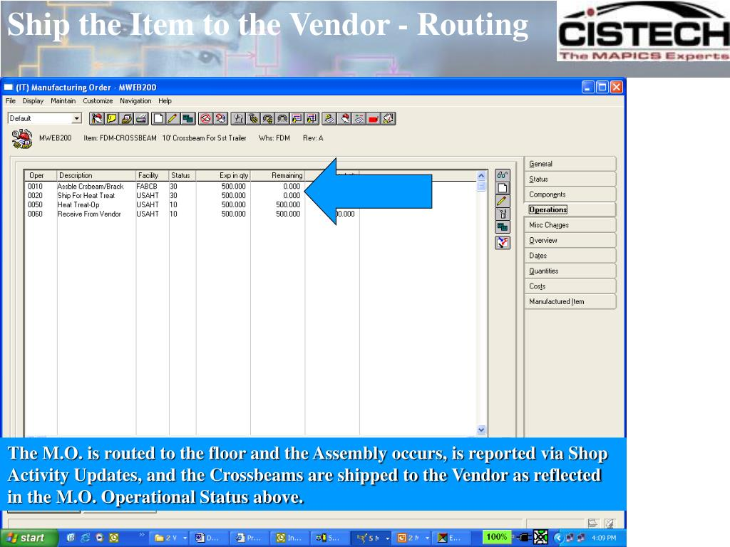 Ship the Item to the Vendor - Routing