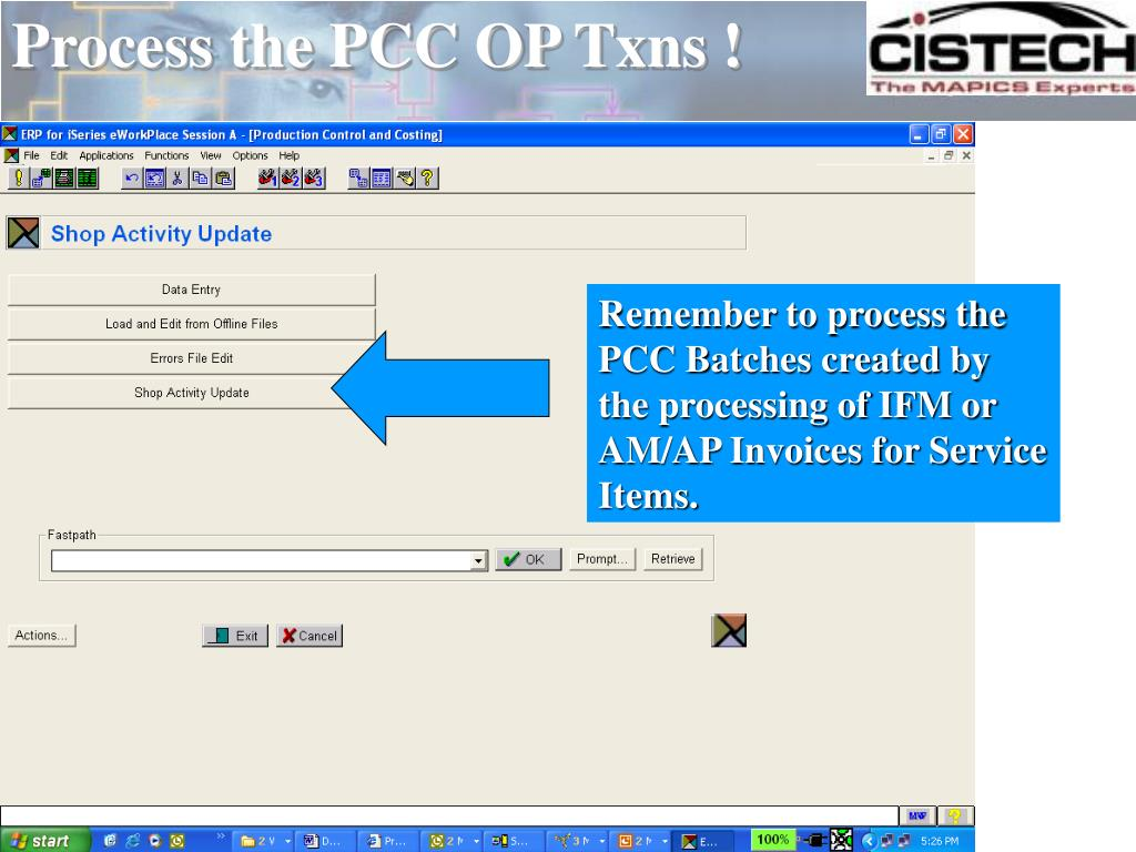 Process the PCC OP Txns !