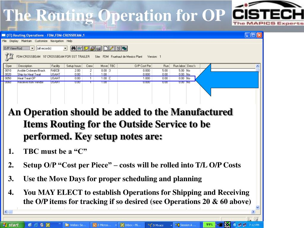 The Routing Operation for OP
