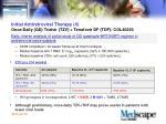 initial antiretroviral therapy 4 once daily qd trizivir tzv tenofovir df tdf col40263
