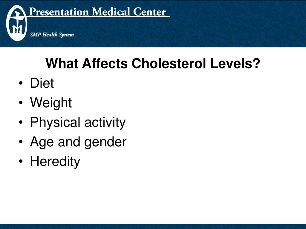 What Affects Cholesterol Levels?