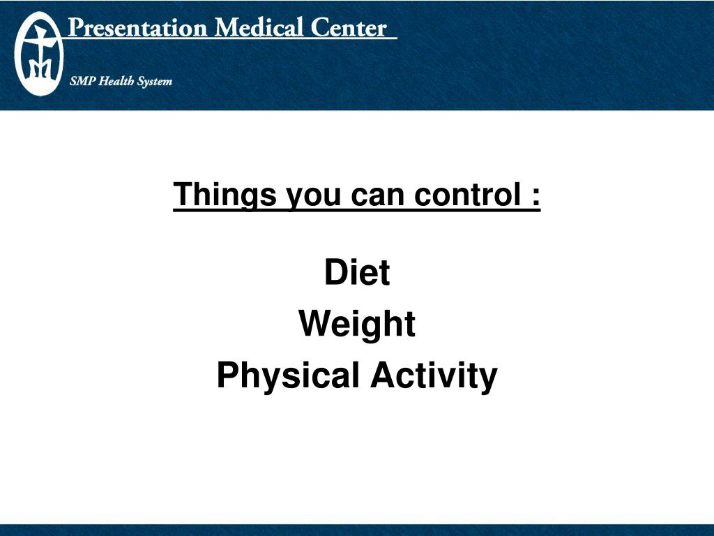 Things you can control :