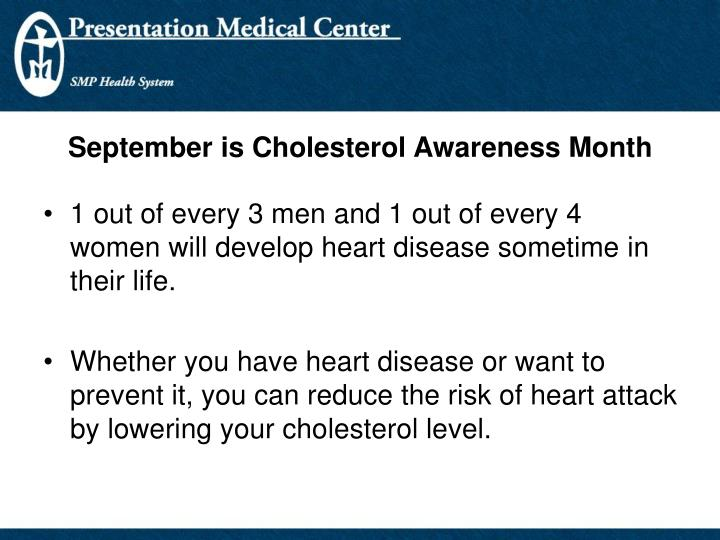 September is Cholesterol Awareness Month