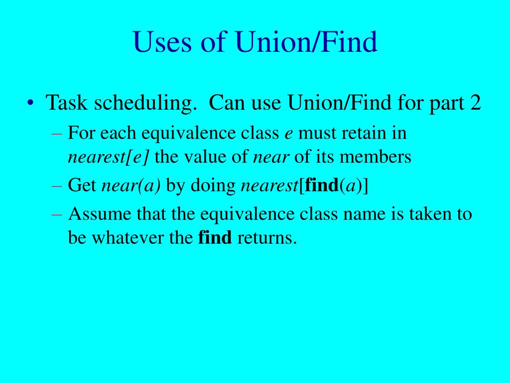 Uses of Union/Find