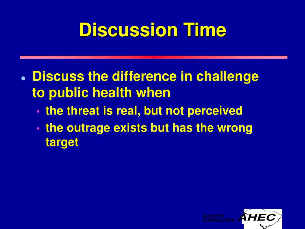 Discuss the difference in challenge to public health when