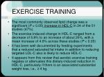 exercise training25