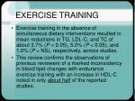 exercise training26