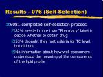 results 076 self selection20
