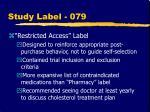 study label 079