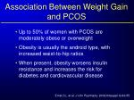 association between weight gain and pcos