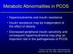 metabolic abnormalities in pcos