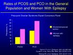 rates of pcos and pco in the general population and women with epilepsy