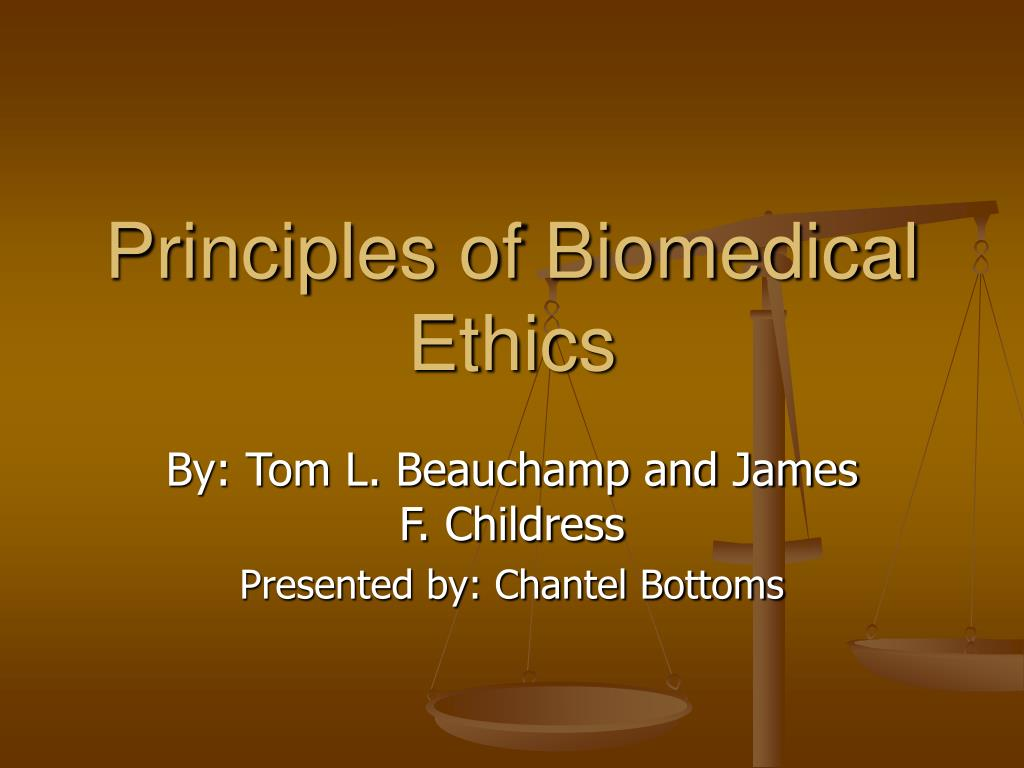 principles of biomedical ethics l.