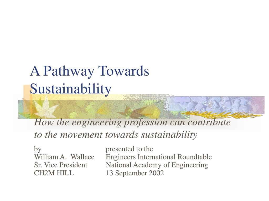 a pathway towards sustainability l.