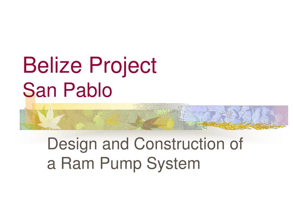 Belize Project