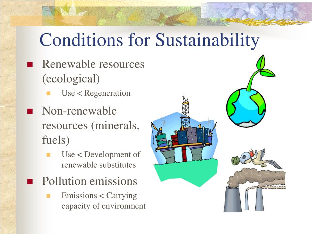 Conditions for Sustainability
