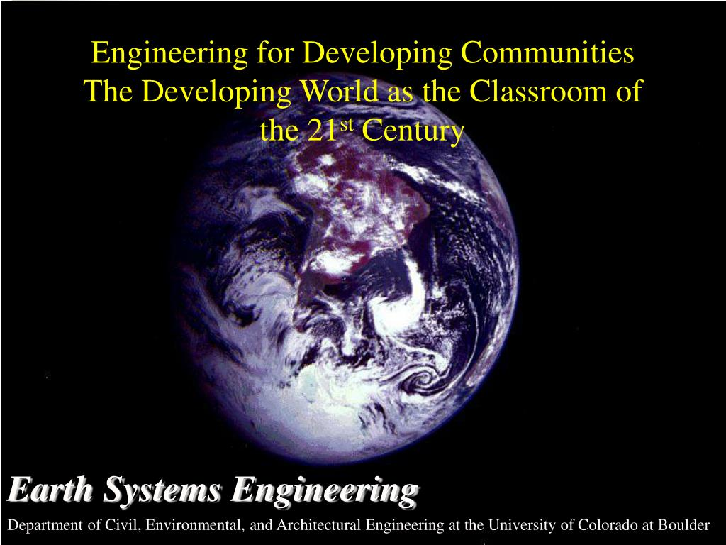 Engineering for Developing Communities